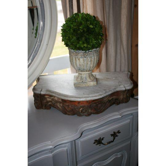 Marble Topped Wall Consoles - Pair - Image 6 of 6