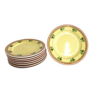 Rosenthal Versace Ceramic Salad/Dessert Plates - Set of 8
