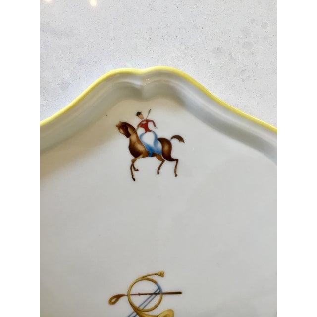 Richard Ginori Gio Ponti for Richard Ginori Equestrian Theme Porcelain Tray For Sale - Image 4 of 9