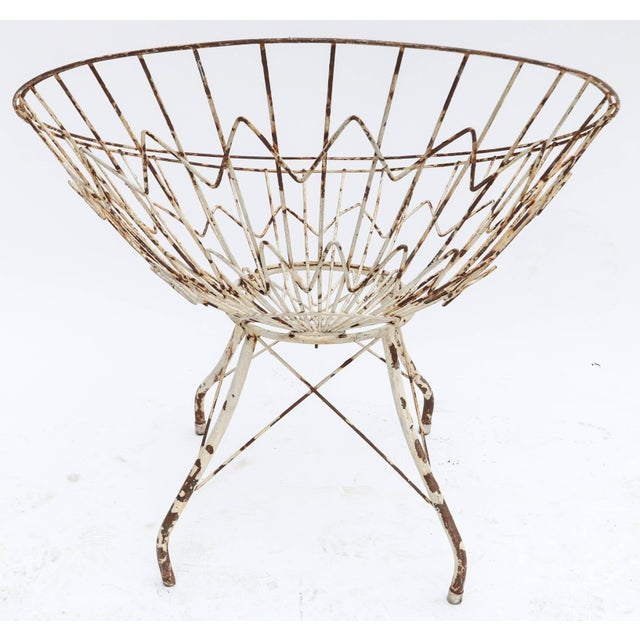 Round Metal Outdoor Garden Chairs - a Pair For Sale In Los Angeles - Image 6 of 8