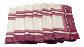 Image of Raspberry Red Table Linens
