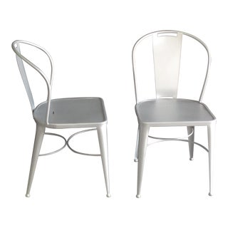 Wrought Iron Garden Chairs - A Pair