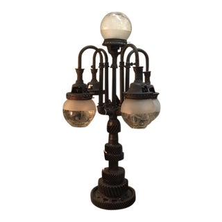 Industrial Style Gas 5 Light Table Lamp