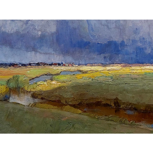 Richard Kaiser - River Running through a countryside Landscape - 19th century Oil painting oil painting on canvas -Signed...