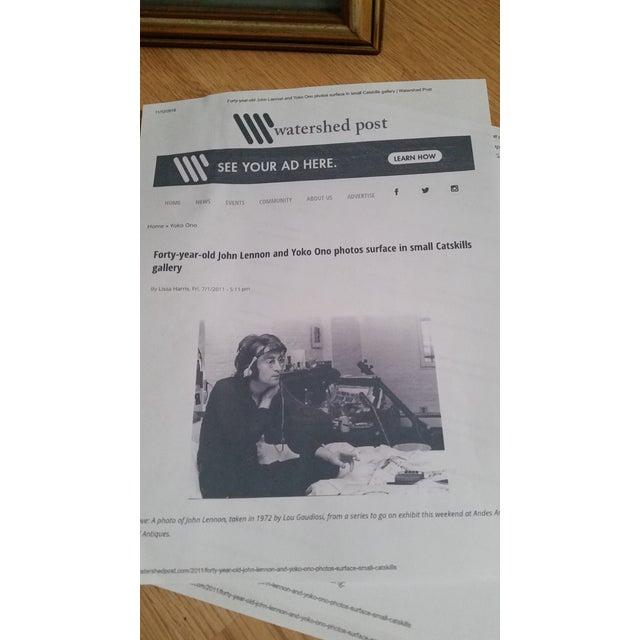 1972 Vintage John Lennon & Yoko Ono Triptych B & W Gel Photographs For Sale - Image 9 of 10