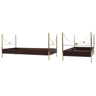 "Pair of 1963 Italian Carlo DI Carli ""D90"" Beds Manufactured by Sormani"