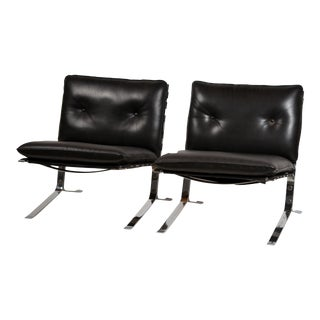 Rare Pair of Original 'Joker' Lounge Chairs by Olivier Mourgue for Airborne For Sale