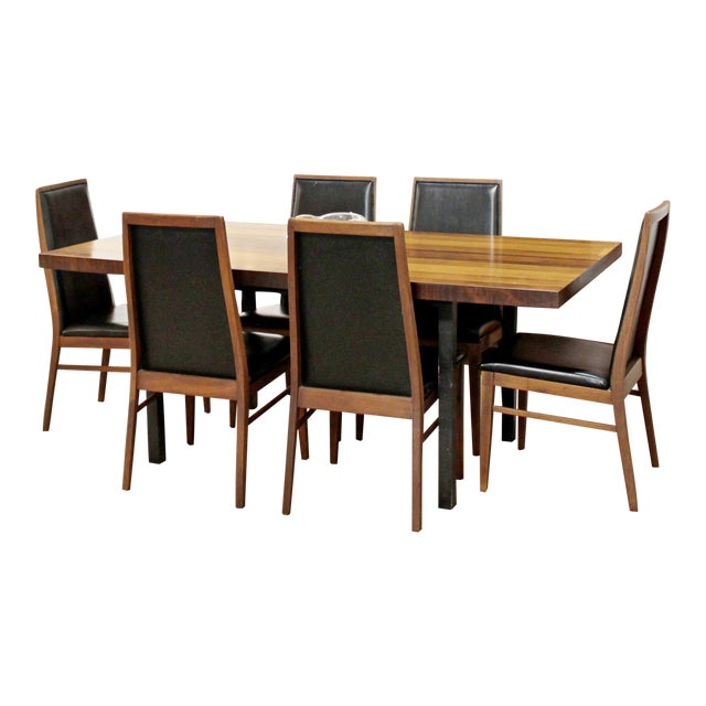 Mid Century Modern Milo Baughman Directional Dining Table Dillinghman 6 Chairs For Sale