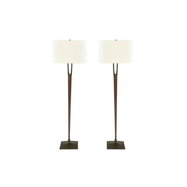 Pair Of Wishbone Floor Lamps By Laurel C 1960s Chairish