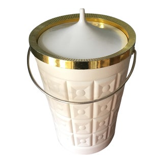 Adler Style White Champagne Ice Bucket