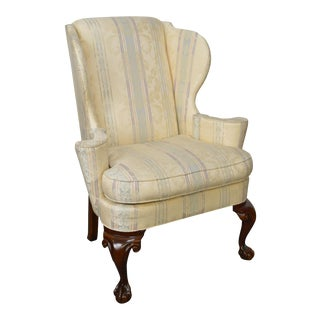 Hickory Chair Chippendale Style Ball & Claw Foot Wing Chair