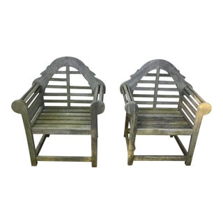 Vintage Children's English Lutyens Style Garden Chairs- a Pair For Sale