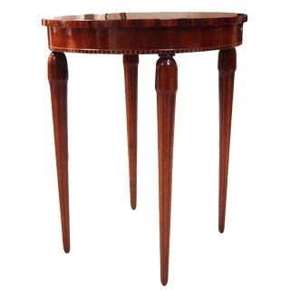 American Art Deco Marquetry Tea Table Occasional Table For Sale