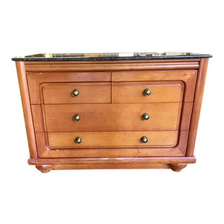 Granite & Maple Club Car Chest of Drawers