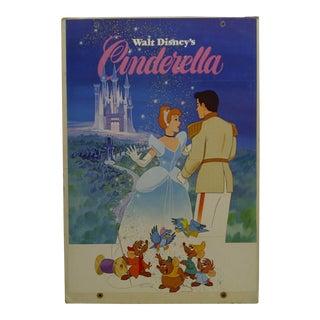 "Mounted Original ""Walt Disney's - Cinderella"" Movie Poster For Sale"