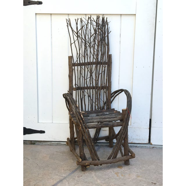 Adirondack Bent Twig Willow Chair - Image 2 of 6