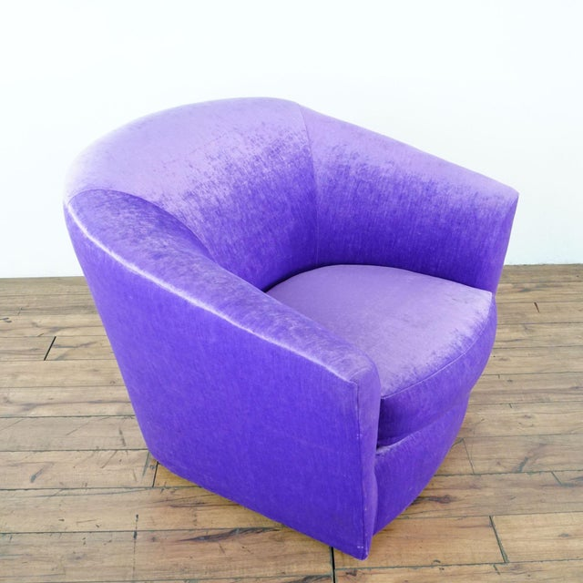 2010s Purple Upholstered Chairs- A Pair For Sale - Image 5 of 9