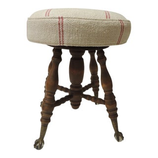 19th Century English Piano Bench or Stool For Sale