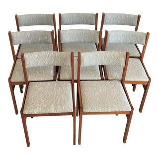1960s Danish Mid-Century Jensen Møbler Teak Dining Chairs – Set of 8 For Sale