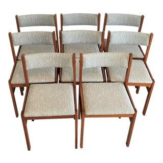 1960s Jensen Møbler Teak Dining Chairs – Set of 8 For Sale