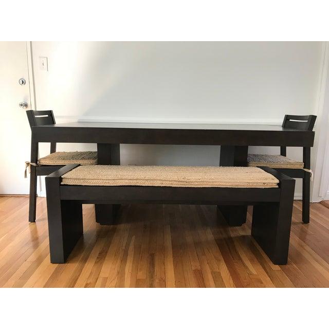 West Elm Modern Terra Dining Table Set Chairish - West elm terra dining table