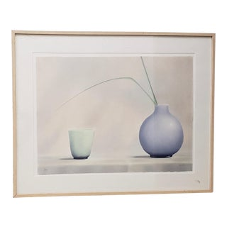 "Brilliant Contemporary ""Green Cup, Blue Vase"" Lithograph Signed / Numbered For Sale"