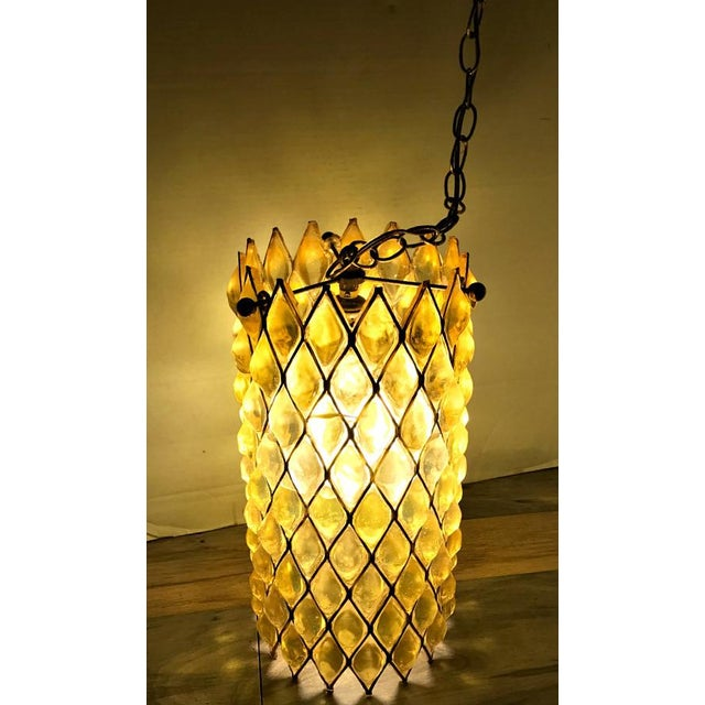 Mid-Century Modern Swag Cylinder Hanging Lamp - Image 3 of 6