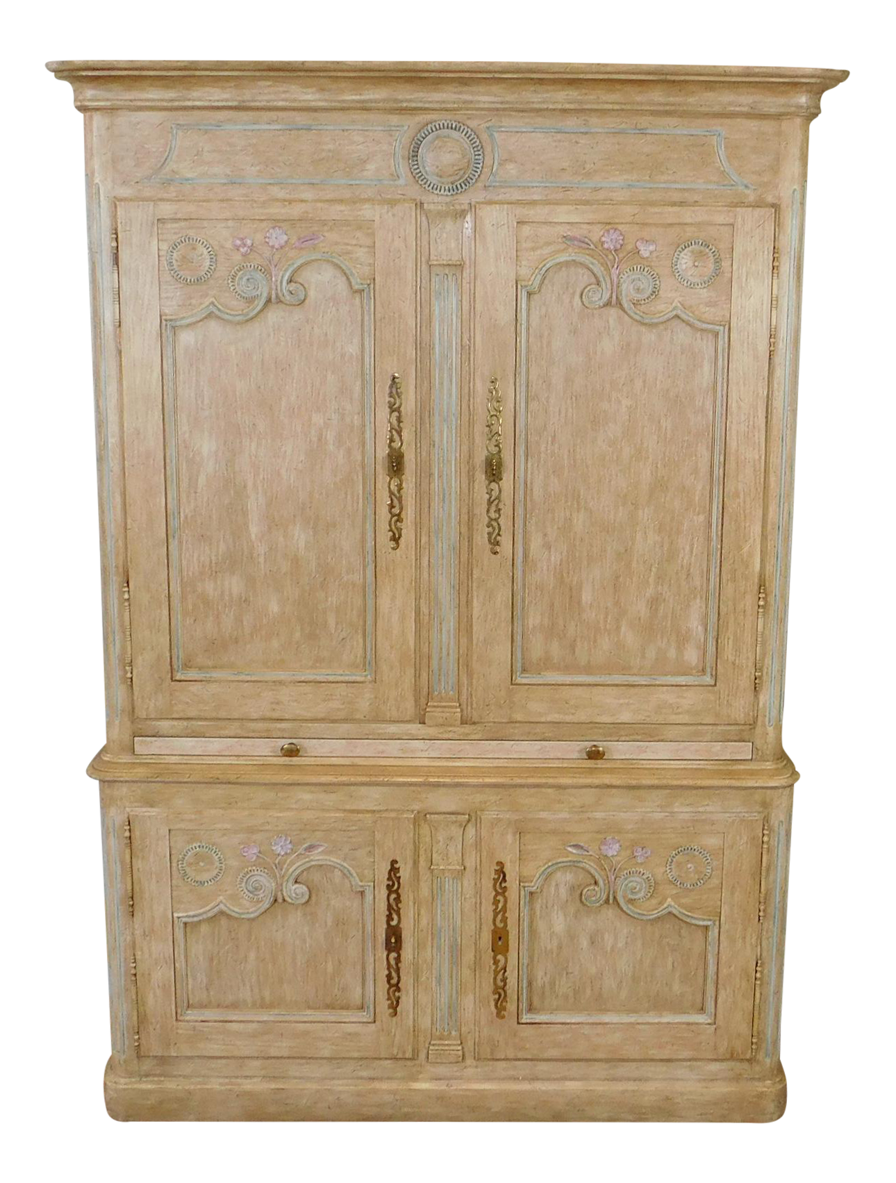 Superieur Country French Baker Furniture Paint Decorated Armoire Bar Cabinet