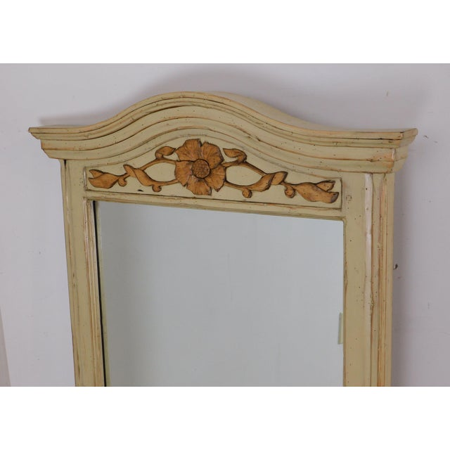 Woodland Furniture French Country Style Painted Wall Mirror For Sale - Image 9 of 12