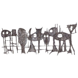 Pia Mannu Brutalist Wall Sculpture For Sale