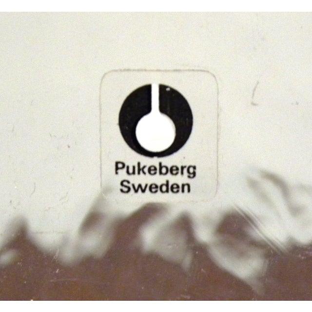 Pukeberg Sweden Vintage Handmade Art Glass Vase - Image 7 of 7