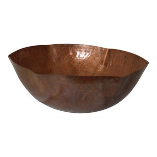 Rose Ann Hall Designs Large Hammered Copper Bowl For Sale