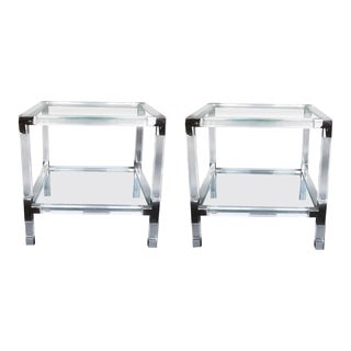 1970s Charles Hollis Jones Metric Side Tables - a Pair For Sale
