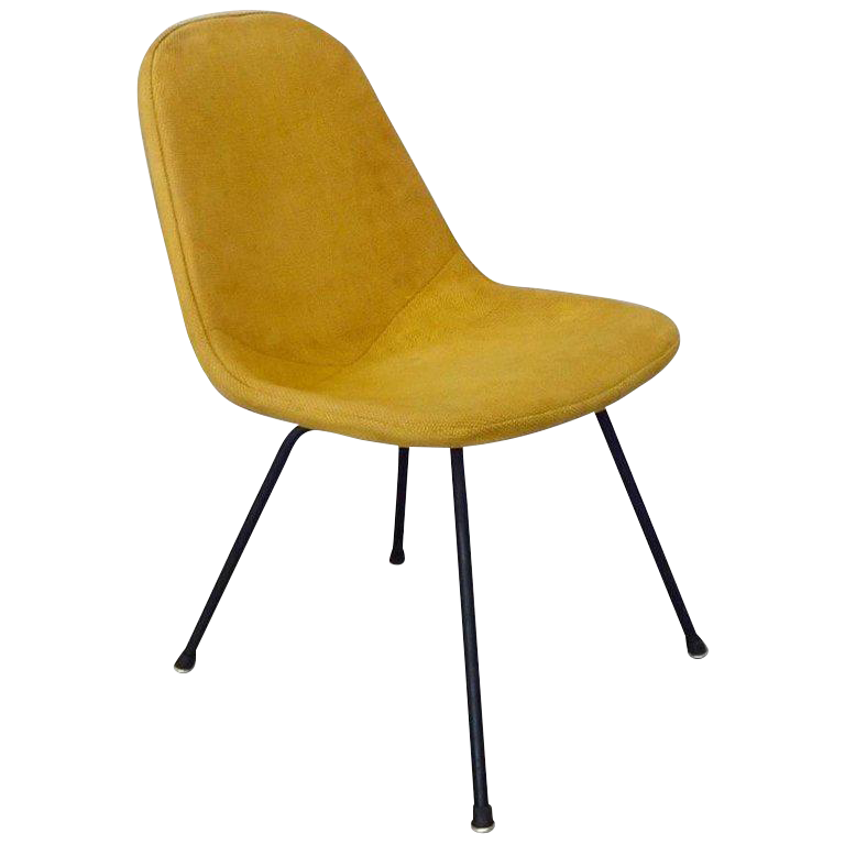 Eames Herman Miller Dkr Chair On Early Production Low X Base For Sale