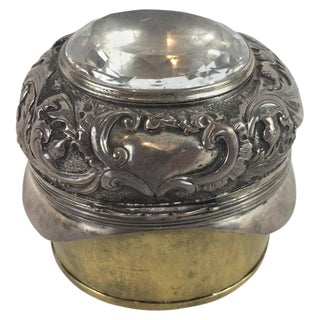 Ornamental Scottish Sterling and Brass Snuff Box