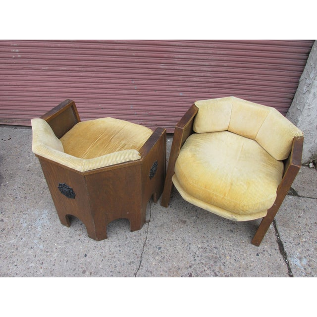 Adrian Pearsall Adrian Pearsall for Mastercraft Pair of Chairs For Sale - Image 4 of 9