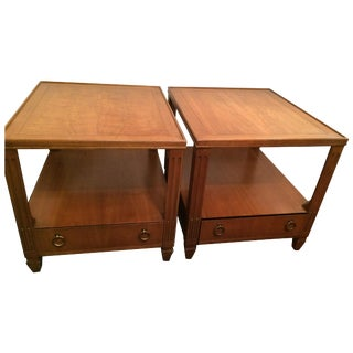 Baker Mid-Century Tables - Pair For Sale