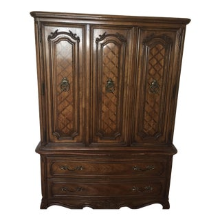 Thomasville Traditional Wooden Armoire For Sale