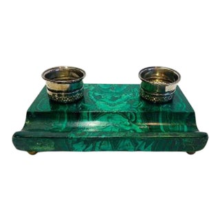 Malachite Ink Stand For Sale