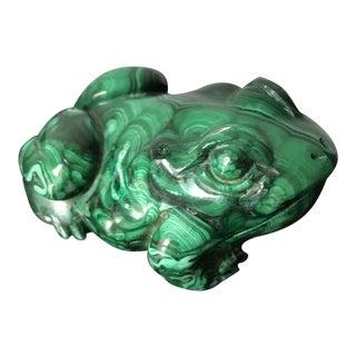 Vintage Mid Century Malachite Frog For Sale