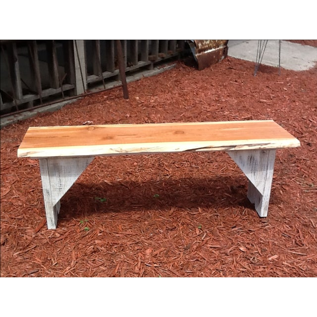 Rustic Red Cedar Bench - Image 3 of 5