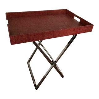 Contemporary Chrome Butler's Tray Table