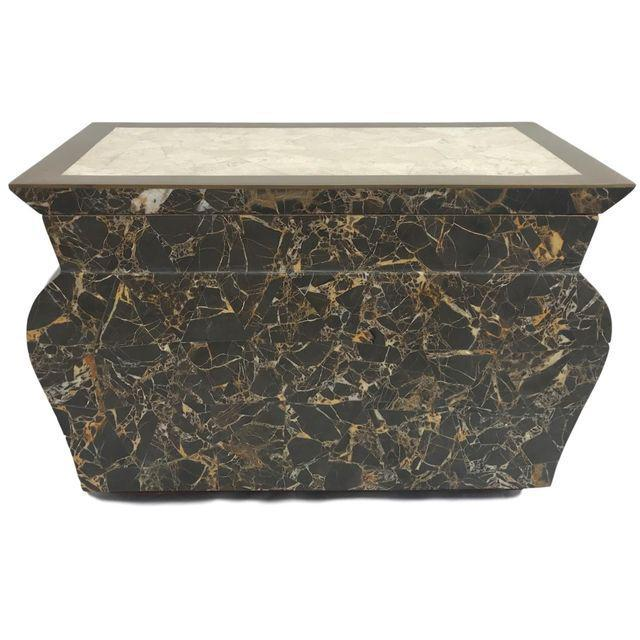 Antique Marble Hollywood Regency Mini Trunk - Image 2 of 9
