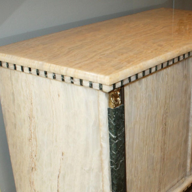 French Onyx Commode C. 1950 For Sale - Image 4 of 7