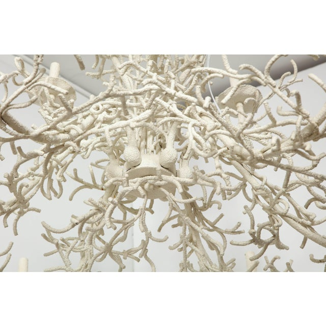 Transparent Large Nine-Arm Coral Chandelier For Sale - Image 8 of 9