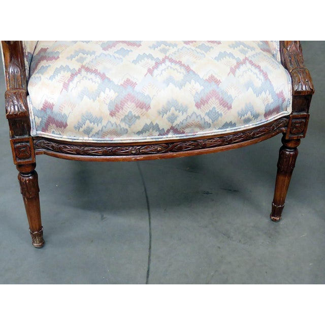 Regency Style Club Chairs - a Pair For Sale - Image 4 of 13