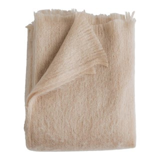 Mohair Throw in Rose For Sale