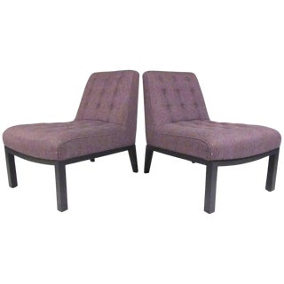 Mid-Century Edward Wormley Slipper Chairs for Dunbar For Sale