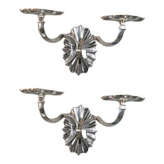 1920s Caldwell Neoclassical Style Silver Sconces - a Pair For Sale