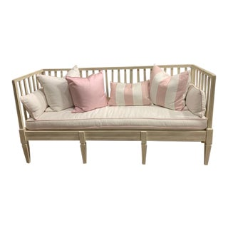 Modern Wimberly Pink Bench For Sale